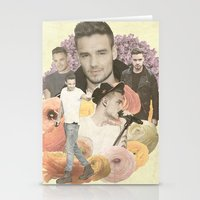 liam payne Stationery Cards featuring Liam Payne + Flowers by Ladsandstuff