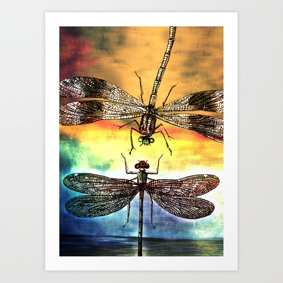 DRAGONFLY meets a Friend Art Print