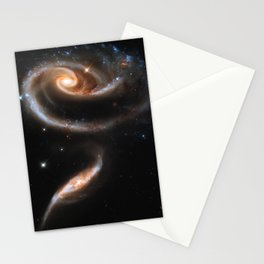 Galaxy Rose Peach Stationery Cards