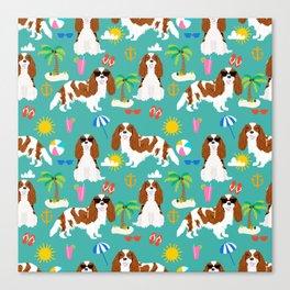 Cavalier King Charles Spaniel beach day tropical vacation socal sunshine Canvas Print