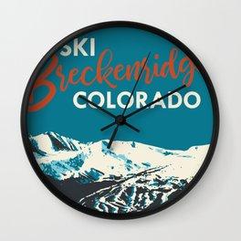 Breckenridge Vintage Ski Poster Wall Clock
