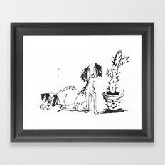Cactus Dogs Framed Art Print