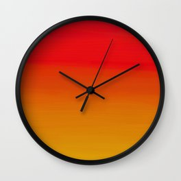 Red Apple and Golden Honey Ombre Sunset Wall Clock