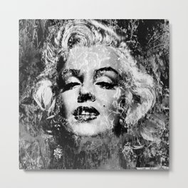 MARILYN (BLACK & WHITE VERSION) Metal Print