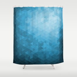 Blue Abstract Highlight Design Shower Curtain