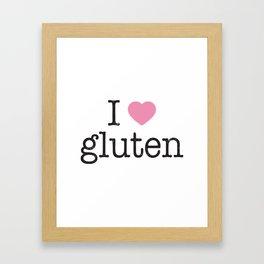 I Heart Gluten Framed Art Print
