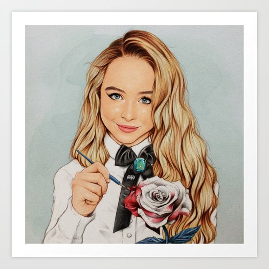 Sabrina Carpenter Art Print by The Art Of Dreams