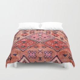 N52 - Pink & Orange Antique Oriental Traditional Moroccan Style Artwork Duvet Cover