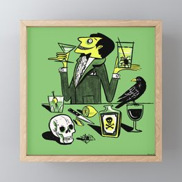Drinks With The Mad Scientist Next Door Framed Mini Art Print