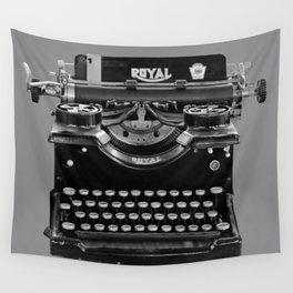 Vintage Typewriter Wall Tapestry