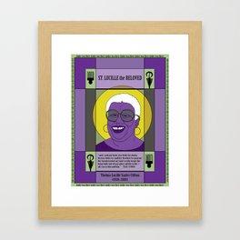 St. Lucille the Beloved Framed Art Print