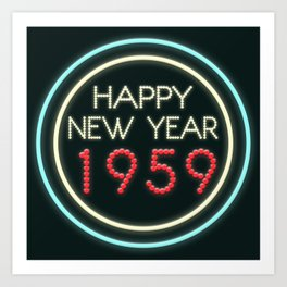 Happy New Year 1959! Art Print