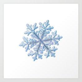 Real snowflake - Hyperion white Art Print