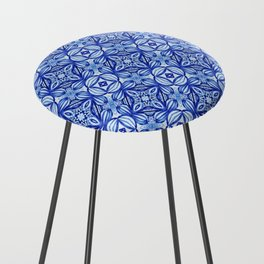 For the Love of Blue - Pattern 372 Counter Stool