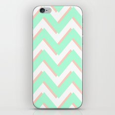 3D CHEVRON MINT/PEACH iPhone & iPod Skin