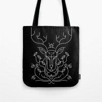 reindeer Tote Bags featuring Reindeer by Marco Recuero