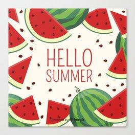 fruit watermelon Canvas Print