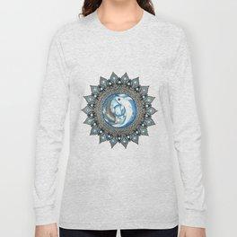 Yin and Yang Butterfly Koi Fish Mandala Long Sleeve T-shirt