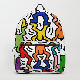 Keith Haring Colour  Backpack