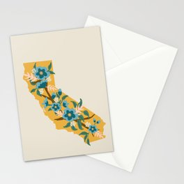 The Golden State of Flowers Stationery Cards