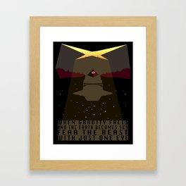 When Gravity Falls Framed Art Print