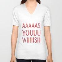 princess bride V-neck T-shirts featuring As You Wish Princess Bride by FayeJay