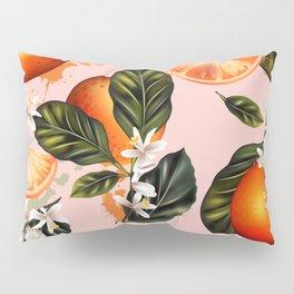Citrus paradise. Tropical pattern with oranges Pillow Sham