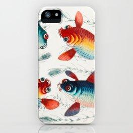 4 Crazy Fish Illustration iPhone Case
