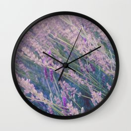 Spring Lavender Mist Wall Clock