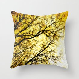 Morning Tree Tops Throw Pillow