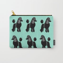Black Standard Poodles with Mint Carry-All Pouch