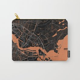 Amsterdam Minimalist Map Carry-All Pouch