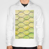 the wire Hoodies featuring Chicken Wire by Dawn Patel Art