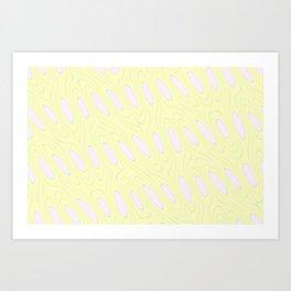 Geo Flow Yellow Pink Art Print