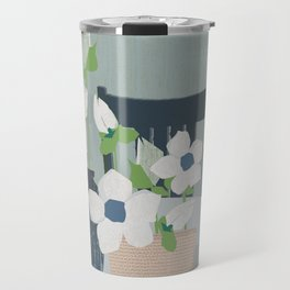 Flowers on the table spring blooms helebores Travel Mug