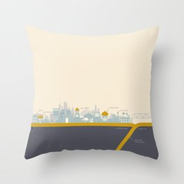 """City on a """"Plate"""" Throw Pillow"""