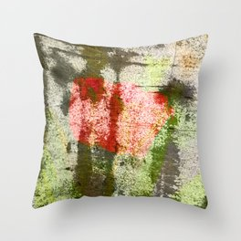 Structured Tulips Throw Pillow