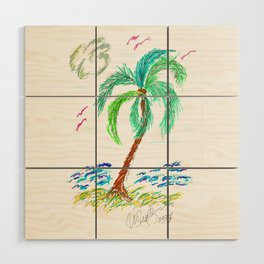 """Beach Afternoon"" Wood Wall Art"
