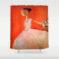 ballerina Shower Curtains featuring Ballerina by Madison R. Leavelle