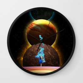 Dance the Light Road Wall Clock