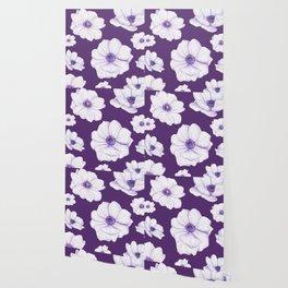 Anemones 2 Purple #society6 #buyart Wallpaper