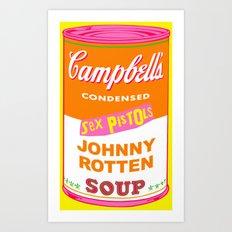 Johnny Rotten Sex Pistols Soup Art Print