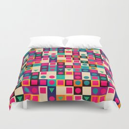 Geometric pattern with shapes Duvet Cover