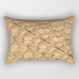 Antique Gold Alligator Fractal Rectangular Pillow