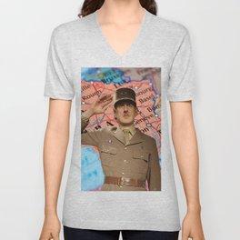 Charles de Gaulle Unisex V-Neck