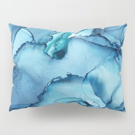 The Blue Abyss - Alcohol Ink Painting Pillow Sham