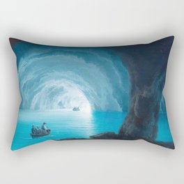 The Blue Grotto, Capri, Italy by landscape painting Gioacchino La Pira Rectangular Pillow