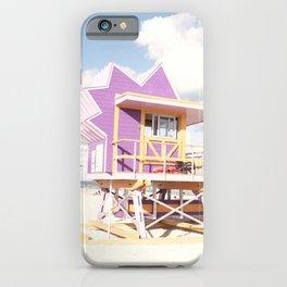 Beach Tower, Pastel Beach Art iPhone Case