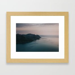 Fjord - Landscape and Nature Photography Framed Art Print