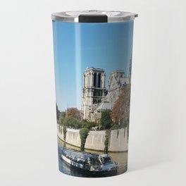 Seine River at Notre-Dame Travel Mug